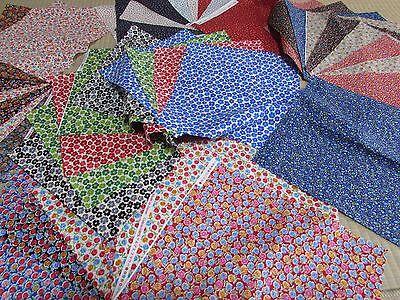 Pre-Cut Rayon Crepe Chirimen Plain Series 10 Assorted Quilt Fabric Patchwork
