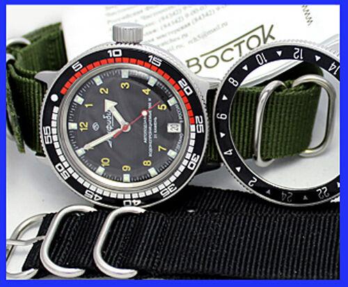 Amphibia 200m Vostok Automatik Mechanische Uhr !!! 420270 De