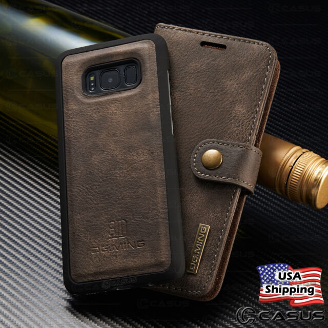 innovative design c81bb 66dd4 For Galaxy S10/S9/S8/S7/Note 8 Leather Removable Wallet Magnetic Flip Case  Cover