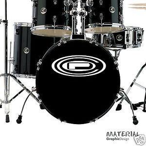 2x Orange County Percussion Autocollant Logo Decal-bass Drum Head Batterie Kit Peau-afficher Le Titre D'origine