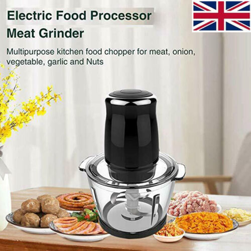 220V Mini Electric Meat Grinder Mincer Sausage Maker Filler Mincing Machine UK