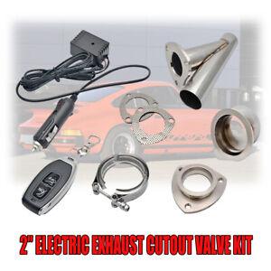 51mm-2-039-039-Valve-Echappement-Electrique-Telecommande-Downpipe-Cut-Out-Systeme-FR
