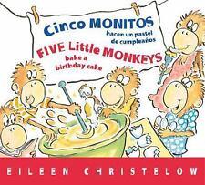 Cinco monitos hacen un pastel de cumpleanos  Five Little Monkeys Bake -ExLibrary