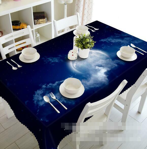 3D Sky moon 78 Tablecloth Table Cover Cloth Birthday Party Event AJ WALLPAPER UK