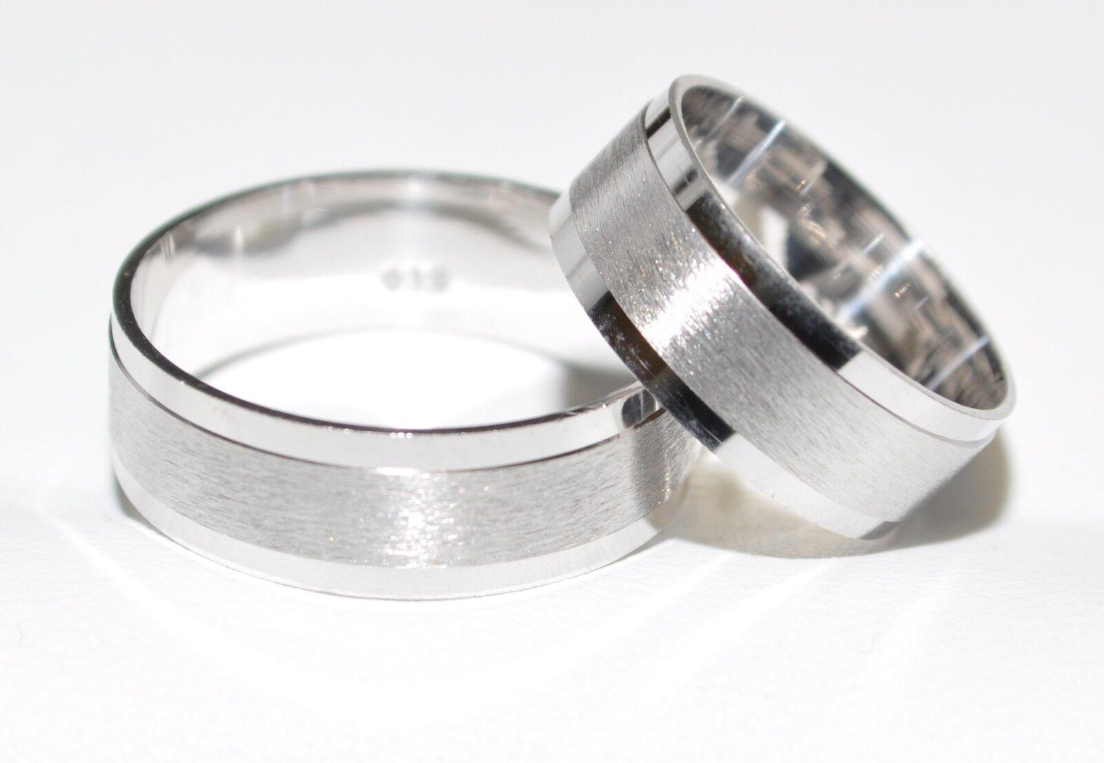 925 silver - Ehering - Trauring - Partnerring - Rhodiniert - Alle Größen - TOP