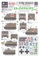 Star Decals 1/35 U.s. 11th Cavalry black Horse In Vietnam & Cambodia Part 2
