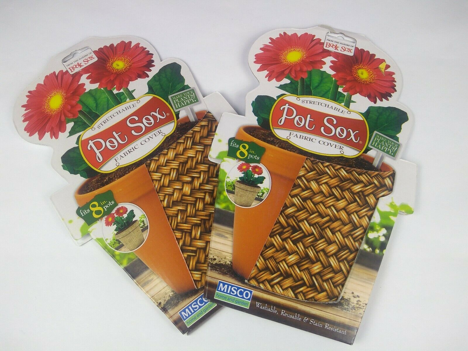 Flower Pot Sox - Stretchable Fabric Pot Cover - Fit 8