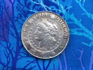 Las Vegas Casino Gaming Token  1878 Morgan Dollar Style Vintage Necklace