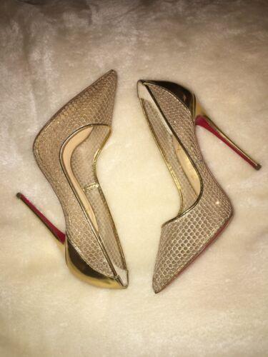 39 Gold Follies Heels Louboutin Resille 6 Size Glitter Christian Eu Uk 120 wfcPqZ5II