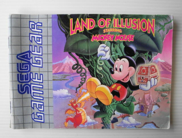 Notice pour jeu sega game gear cartouche Land of illusion starring Mickey Mouse