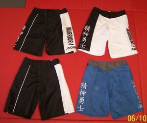 NEW-Kids-amp-Adults-Board-Shorts-Black-White-or-Blue-Martial-Arts-MMA-BJJ-UFC