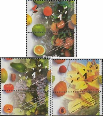 Israel Israel 1394-1396 With Tab Unmounted Mint Never Hinged 1996 Fruits High Quality And Inexpensive