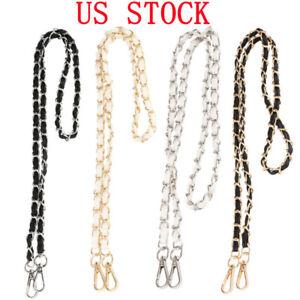 Replacement-Purse-Chain-Strap-Handle-Shoulder-For-Crossbody-Handbag-Bag-Metal-US