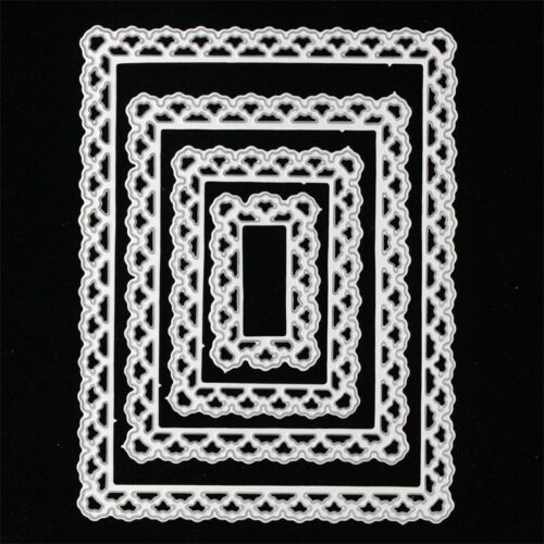Lace Rectangle Frame Metal Cutting Dies Stencils for DIY Scrapbooking Decorative
