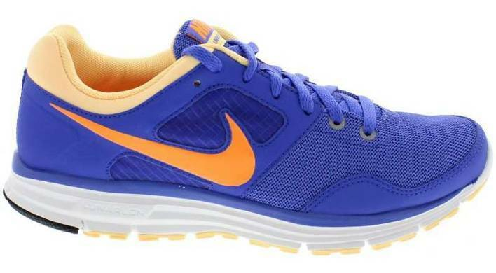 Nike Wmns Lunarfly+ 4 bleu/Orange femmes  Trainers  Chaussures  Sizes:UK- 4_5_5.5