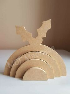 Freestanding 3D CHRISTMAS PUDDING SHAPE MDF craft shape Christmas