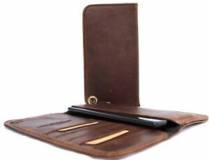 genuine-leather-Case-fit-iphone-6-6s-plus-book-wallet-cover-thin-brown-slim-new