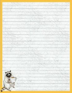 Forest-Friend-Lined-Stationery-8-5-034-X11-034-25-sheets-and-10-color-coord-envelopes