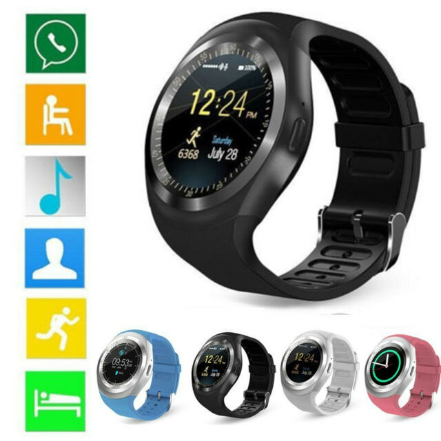 Y1 Waterproof Bluetooth Smart Watch For Android IOS iPhone Samsung LG Phone US