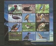 TONGA SGMS1636 2012 BIRDS MINISHEET MNH