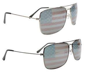 4fb004e771b Image is loading SQUARE-USA-FLAG-AVIATOR-SUNGLASSES-UNITED-STATES-PATRIOTIC-