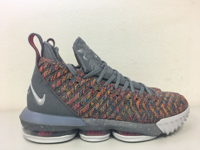 release date: fed69 d6bbe Nike Lebron XVI 16 Multi Color Metallic Silver Bq5969 900 Mens Size 9 for  sale online   eBay