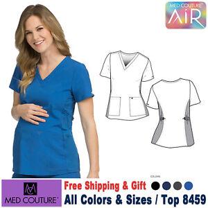 Med-Couture-Ropa-Quirurgica-4-Manera-Aire-Toque-Maternidad-Cuello-en-V-Top-8459