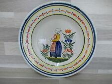Vintage plat en Faience Quimper HB signée - 23 cm