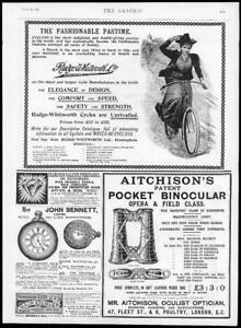 1895-Antique-Print-ADVERTISING-RUDGE-WHITWORTH-CYCLES-AITCHISONS-OCULIST-049