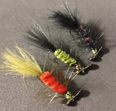 sold per 3 Size 6 2019****Assortment Spinner Flies New Colors!!!