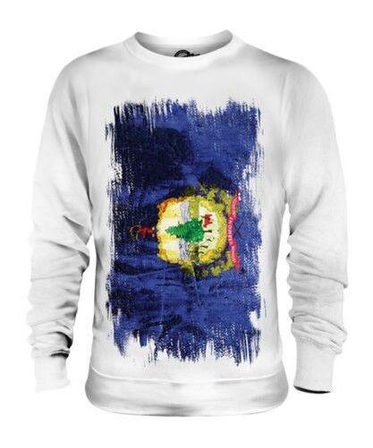 Vermont État Drapeau Grunge Unisexe Pull Vermonter T-Shirt Jersey Cadeau
