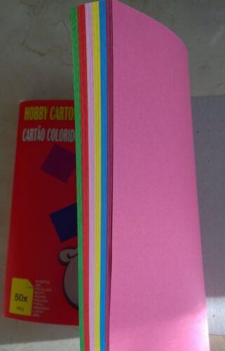 rouge bleu rose foncé rose jaune vert Carton format A4 50 feuilles 120 g