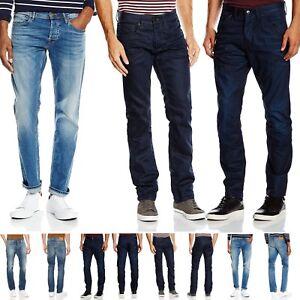 Jack-amp-Jones-Denim-Jeans-For-Mens-Clark-Regular-Fit-Casual-Work-Pants-Bottom