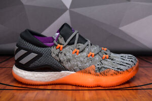 the latest 609cb 1e56d Image is loading Adidas-Crazylight-Boost-Low-2016-BB8384-Orange-Gray-