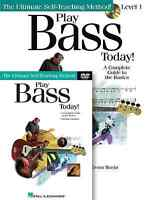 PLAY BASS GUITAR TODAY BEGINNER INSTRUCTION LESSON DVD + BOOK