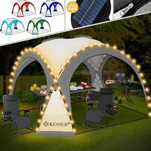 KESSER-Pavillon-LED-Event-Partyzelt-Solar-Garten-Gartenzelt-Camping-Pavilion