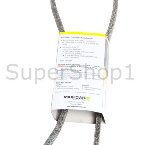 "MaxPower Belt 1//2/"" X 97/"" Premium V-Belt Made With Kevlar Rep 102741"