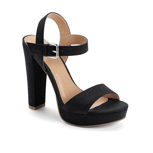 NEW Women/'s LC Lauren Conrad Bow High Heel Sandals Shoes Black