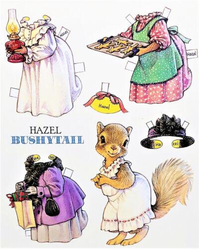 "MINT Shackman HAZEL BUSHYTAIL SQUIRREL PAPER DOLL POST CARD Large 7x6/"" Rare"