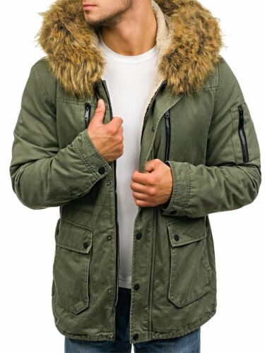 Wärmejacke Winterjacke Parka Futter Alaska Mantel Lang Herren Mix BOLF 4D4 Motiv