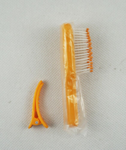 1 Yellow Comb /& 1 Hair Clip Girl Gift Doll Accessory Fit For 18/'/' American Girl