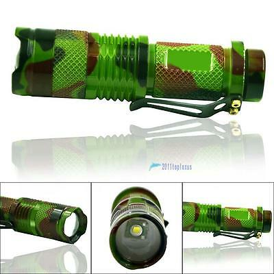 2000LM Q5 LED Zoomable Focus Mini Tactical Flashlight 14500 Torch Lamp Light TL