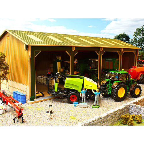 BRUSHWOOD BBB160 Open Barn  - 4 Bays Big Basics - 1 32 Farm Toys
