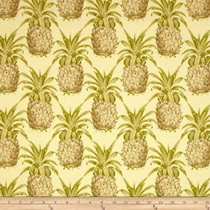 WAVERLY Sun N Shade Pineapple Grove Natural Outdoor Fabric by the yard