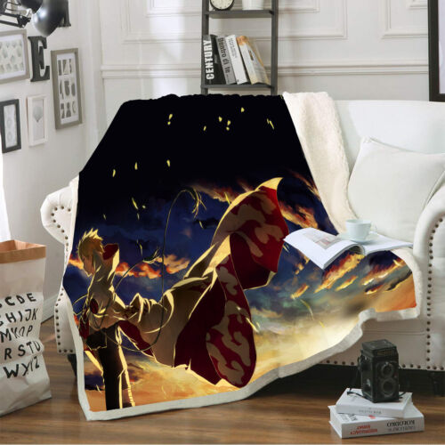 NARUTO0 3D Printed Throw Blanket Plush Sofa Bed Soft Warm Blanket For XMAS Gift