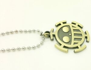 2018-Anime-One-Piece-Trafalgar-Law-Cosplay-Alloy-Bronze-Pendant-Necklace-Gift