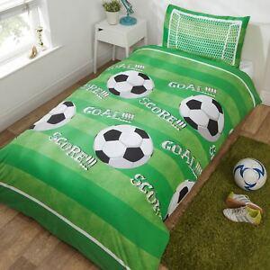 But-Score-Football-Set-Housse-de-Couette-Simple-Vert-Terrain-Garcons-Literie