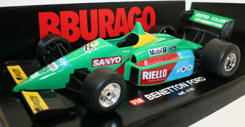 Tienda 2018 Vintage Burago 1 18 Diecast Model - - - 6102 - Benetton Ford F1 Racing Coche  20  compras en linea