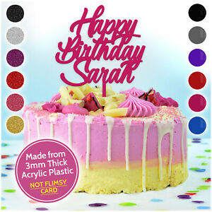 Happy-Birthday-Cake-Topper-ANY-NAME-PERSONALISED-Decoration-Party-CUSTOM-Acrylic