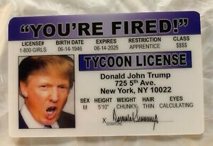 White House Press Pass ID Joke Novelty Gag Drivers License Trump President Maga